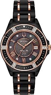 Bulova - Reloj de pulsera para mujer, 37 mm, diseño de estrellas marinas, color negro