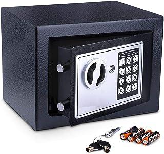 comprar comparacion Meykey Caja Fuerte Pequeña Caja Seguridad 230X170X170 mm, Negro