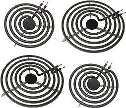 """S-Union 4 Pack MP22YA Electric Range Burner Element Unit Set - 2 pcs MP15YA 6"""" and 2 pcs MP21YA 8"""" Replacement for Hardwic..."""