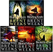 Brent Weeks 5 Books Collection Set (The Black Prism, The Blinding Knife, The Broken Eye, The Blood Mirror, The Burning White[Hardcover])