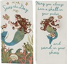 Kay Dee Designs Mermaid Theme Kitchen Towels with Sayings, Terry Towel & Flour Sack Towel