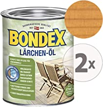 Gardopia Sparpaket: Bondex Lärchen-Öl 7122 Holz-Schutz Pflege & Farbauffrischung, 750 ml