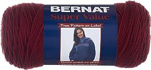 Spinrite Bernat Super Value-Solid Yarn, 1-Pack, Burgundy