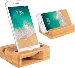 Encozy Cell Phone Stand with Sound Amplifier,Natural Bamboo Wooden Desktop Mobile Phone Holder(Sound Stand)