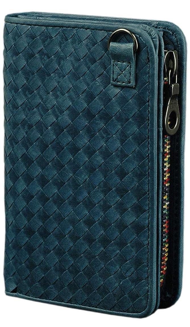 二週間脚本家届けるソラチナ SOLATINA 二つ折り財布 ホースレザーメッシュ加工シリーズ SW-36092 メンズ