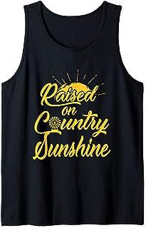 Raised on country sunshine nice Tank Top