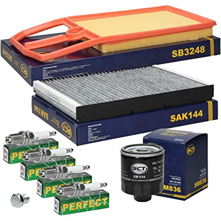 Inspektionspaket Wartungspaket Filterset 1 X Ölfilter 1 X Luftfilter 1 X Innenraumfilter Mit Aktivkohle 4 X Zündkerze 1 X Ölablaßschraube Auto