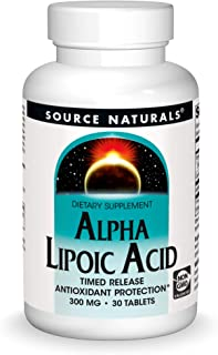 Source Naturals Alpha Lipoic Acid - Supports Healthy Sugar Metabolism, Liver Function & Energy Generation - 30 Time Releas...