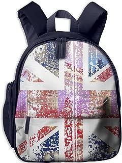 Fengyaojianzhu UK Flag Cool School Book Bag Travel Student Backpack For Children Kids Girls Boys