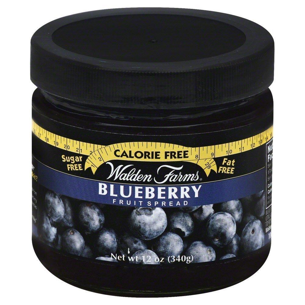 Walden Farms Raleigh Mall Blueberry Fruit Spread 12 Ounce per 6 case Genuine -