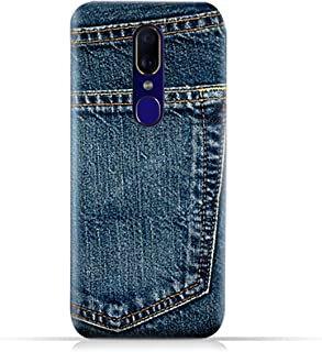 AMC Design Oppo F11 TPU Silicone Case with Jeans Pocket Pattern Case - Blue