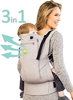 LÍLLÉbaby CarryOn All Seasons 3-in-1 Ergonomic Toddler & Child Carrier, Stone - 20 to 60 lbs