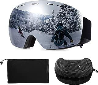 scurry Ski Goggles, Snowboard Snow Goggles OTG Design Winter Glasses Anti-Fog Compatible for Men Women Ski Helmet, Outdoor Gear