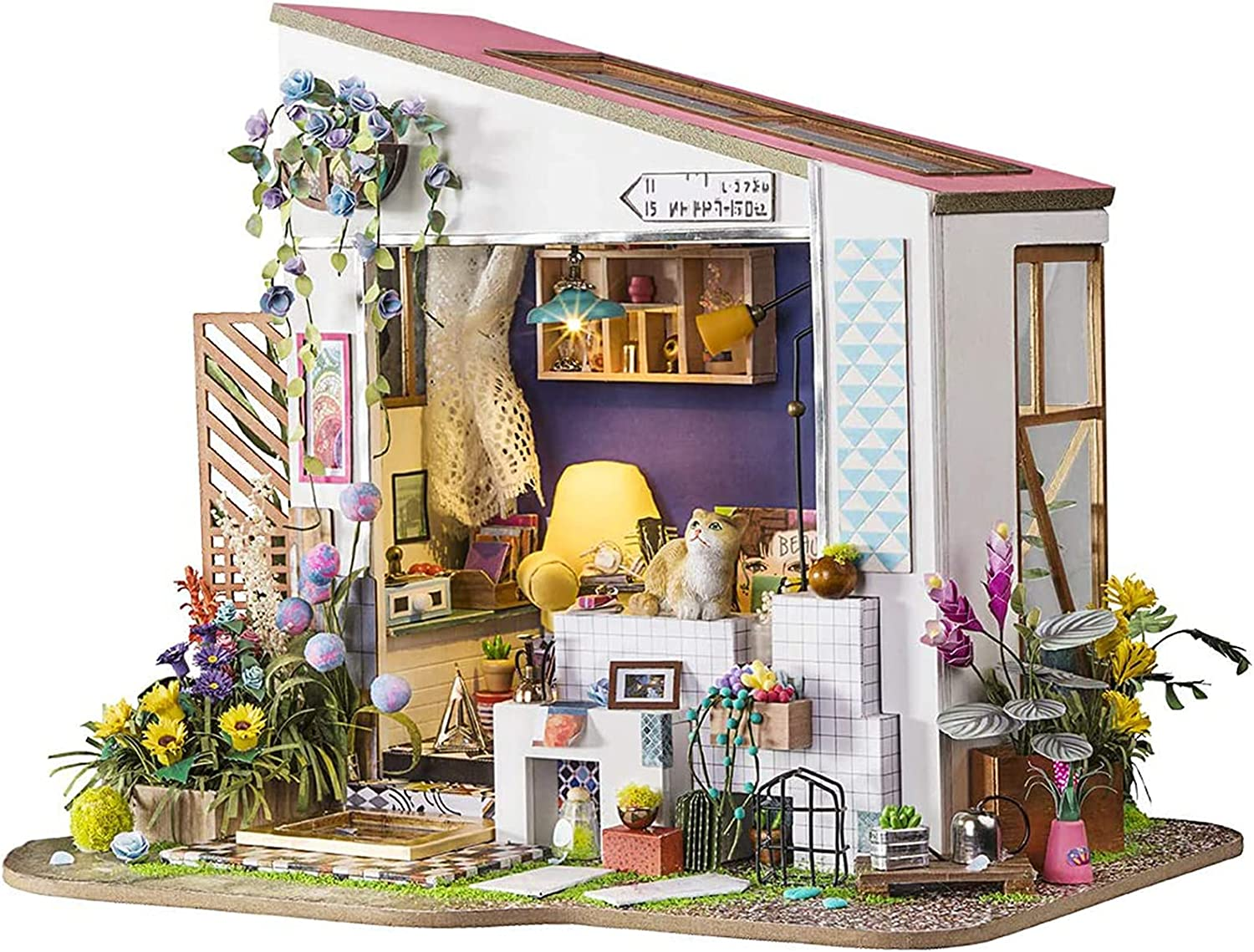 ALISALQ DIY 3D Wooden Miniature Toy Build Super special price Own House Handmad Your Challenge the lowest price of Japan