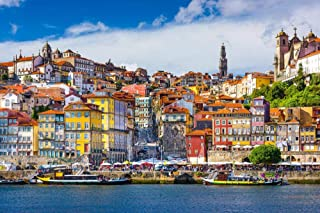 1000 Piece Jigsaw Puzzle - Lisbon Scenery in Portugal Large Size Wooden Every Piece is Unique Intellectual Development