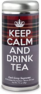 Keep Calm and Drink Tea- Earl Grey Tea: All Natural Blend, Antioxidants, 24 Servings