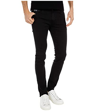Versace Jeans Couture Skinny Fit London Jeans with Raw Hem (Black) Men