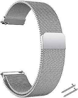Cinturino in Acciaio Inossidabile Cinturino per Orologio 22/20mm Cinturino Orologio in Maglia Intrecciata in Maglia Bracci...
