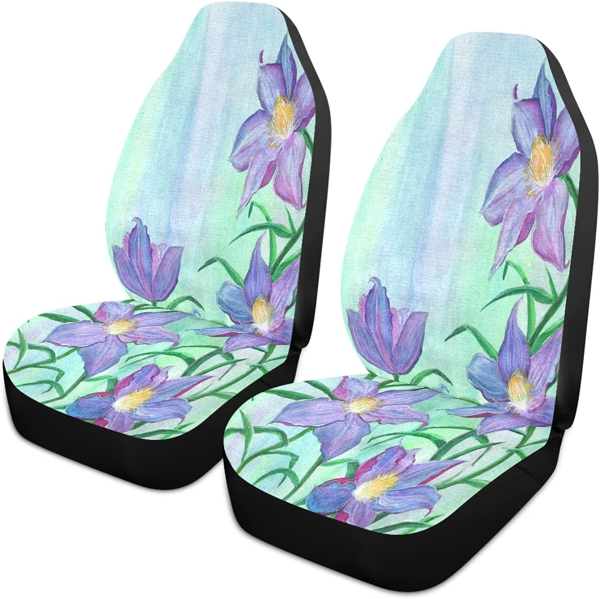 Oarencol Purple Lily Flowers 2021 model Painting price Covers Car Universal Seat