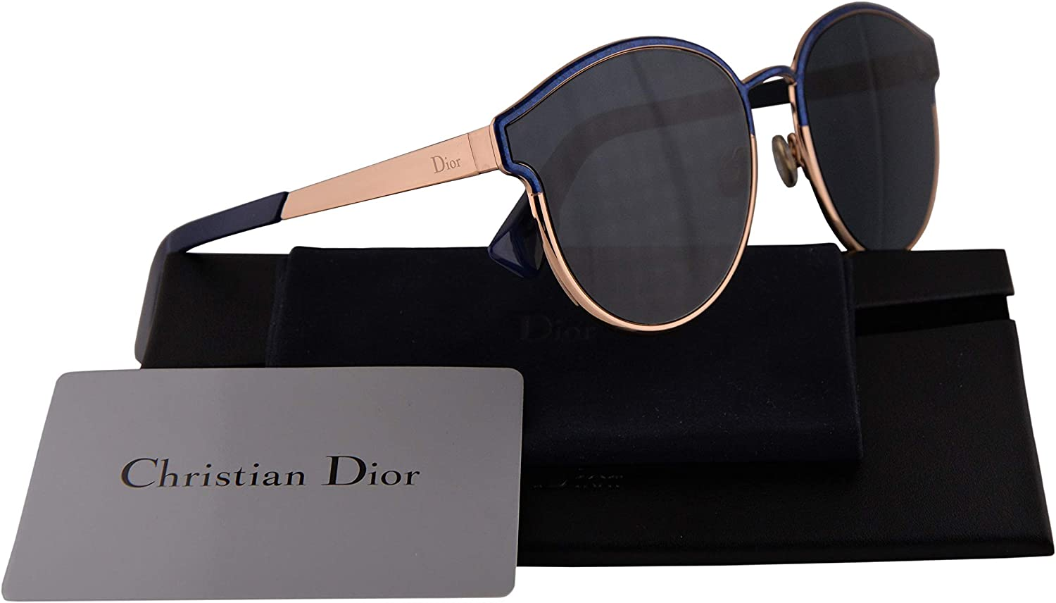 Christian Dior DiorSymmetric Sunglasses Marble bluee w bluee Mirror Lens 59mm NUMA9