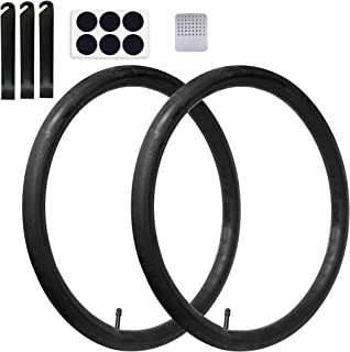 Calvana (2 Pack) 20'' x 1.75/2.125 Replacement Inner Tubes with Tire Leveler and Round Patches for Youth Bike with 20 Inch...