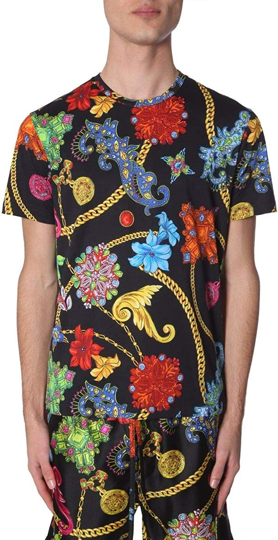 VERSACE COLLECTION Men's A77276A229165A72W Multicolor Cotton TShirt