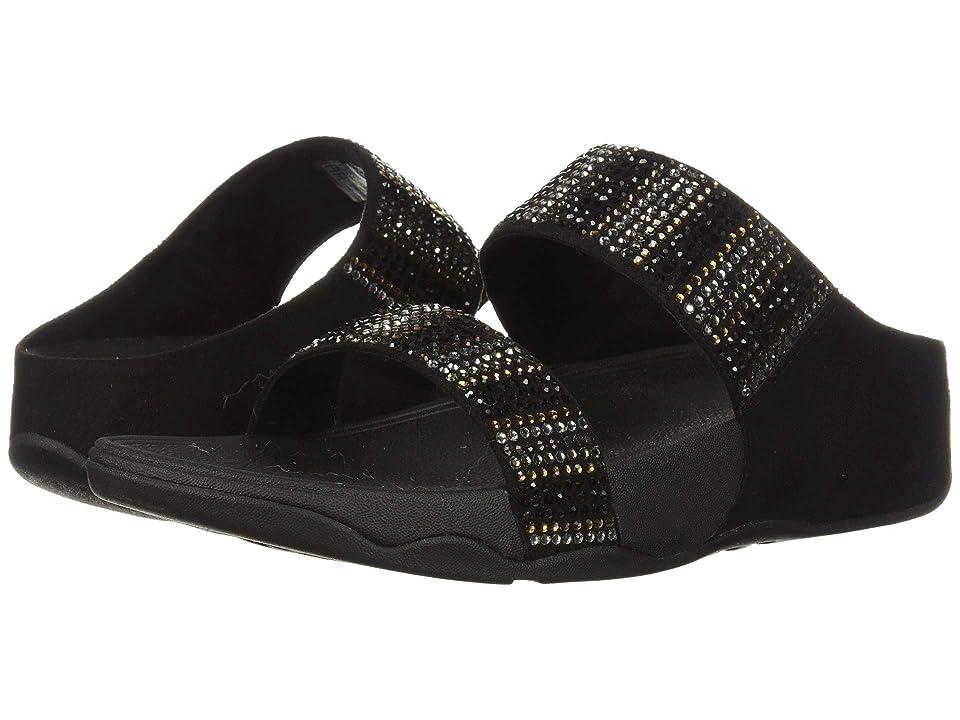 FitFlop Flare Strobe Slide (Black) Women