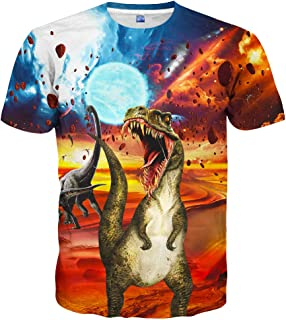 9bcffec7 Hgvoetty Unisex Stylish 3D Printed Graphic Short Sleeve T-Shirts for Women  Men