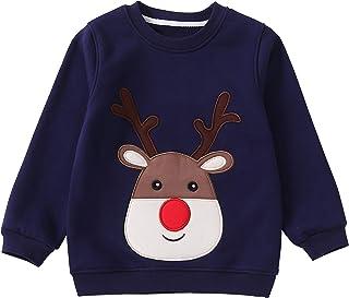 IRELIA Winter Girls Kids Sweatshirts Fleece Lined Print