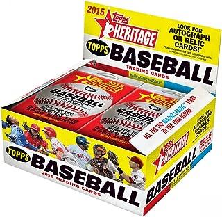 MLB 2015 Topps Heritage Baseball Cards Trading Card Retail Box