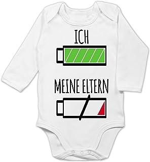 Shirtracer Strampler Motive - Ich und Meine Eltern Batterie - Baby Body Langarm