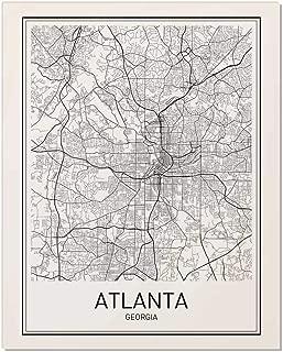 Atlanta Poster, Map of Atlanta, Atlanta Map, City Map Posters, Modern Map Art, City Prints, Atlanta Art, Minimal Print, Atlanta Georgia, City Poster, City Map Wall Art, Minimalist Posters, 8x10