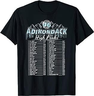 46 Adirondack Mountain Winter Checklist T-Shirt