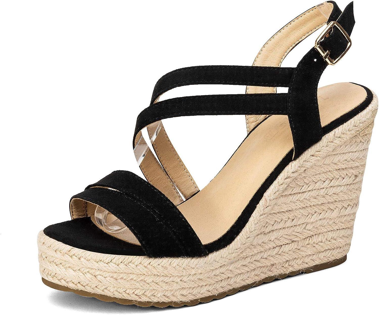 Women's Platform Espadrille Wedges for Fashionable Sandals women Max 64% OFF Buckl