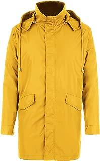 FISOUL Raincoats Men's Waterproof Lightweight Long Rain Jacket Outdoor Hooded Trench