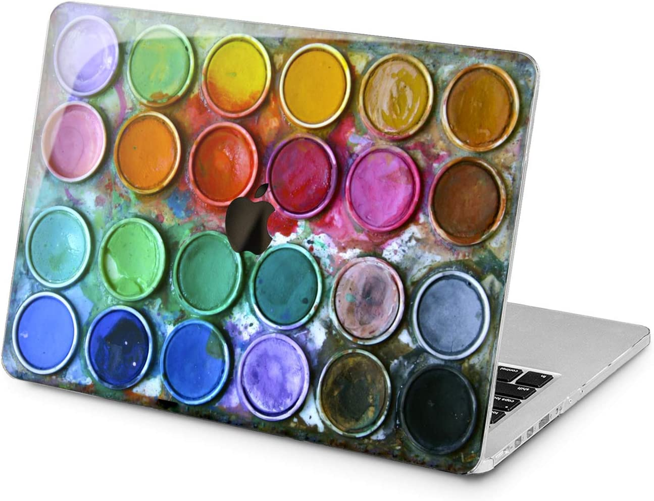 Lex Altern Hard Case Compatible with MacBook Air 13 Mac Pro 15 inch Retina 12 11 2020 2019 2018 2017 Art Touch Bar Boxes Cute Watercolor Shell Cover Paint Design Print Protective Rainbow Woman Girls