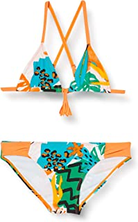 Bikini Estampado NIÑA Naranja Party Animal