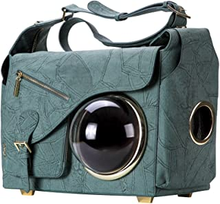 CloverPet Luxury Bubble Sporty Pet Carrier Travel Backpack for Cats Dogs Puppy (Grey Green)