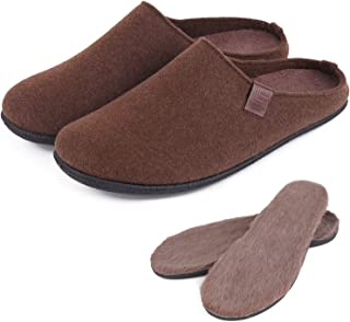 LB LONGBAY SINCE 1997 Men's Wool Blend Removable Insole House Slippers
