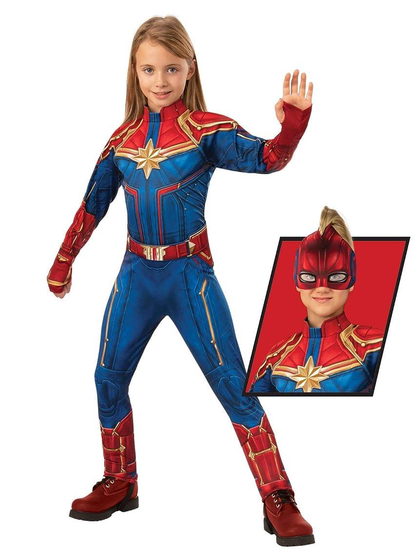 Rubie's Captain Marvel Children's Deluxe Hero Suit, Small 700597 Blue/Red