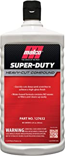 Malco Super Duty Heavy Cut Compound, Professional Cutting, Polishing and Finishing Compound for Auto Paint Correction, Detailing and Buffing, 32 oz. (127632)