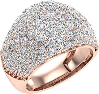 2.94 ct tw Dome Diamond Ring Cocktail Fashion Style 18K Gold (G,VS)