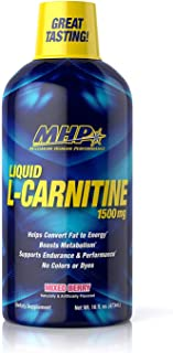 Maximum Human Performance Mhp L-Carnitine 1500mg Liquid, Delicious Tasting, Burns Fat, Stimulatant Free, Supports Sports P...