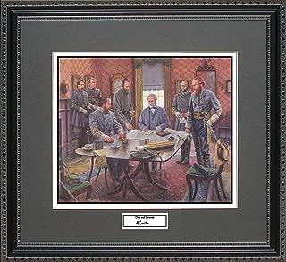 BigOfficeArt Mort Kunstler Gods and Generals Framed Wall Art Civil War Print, 18x16