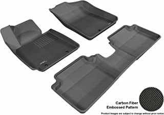 3D MAXpider Complete Set Custom Fit All-Weather Floor Mat for Select Hyundai Veloster Models - Kagu Rubber (Black)