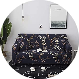 Elegant Modern Sofa Cover Spandex Elastic Polyester Floral 1/2/3/4 Seater Couch Slipcover Chair Living Room Furniture Protector,Model 17,3 Seat (190-230cm)