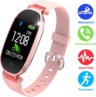 Fitness Watches for Women, Fitness Tracker, Waterproof Smart Watch for Android Phones and iPhone, Health Monitoring Watches, Activity Tracker, Pedometer for Walking, Heart Rate Monitor