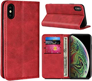 SunYoo for iPhone X Wallet Case, for iPhone Xs Cover with Cards Slots & Magnetic & Flip Folio with Cowhide Pattern Leather...