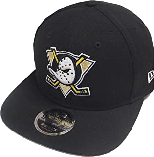 best sneakers e3a39 dc9d8 New Era NHL Anaheim Ducks Black Snapback Cap Original Fit S M 9fifty