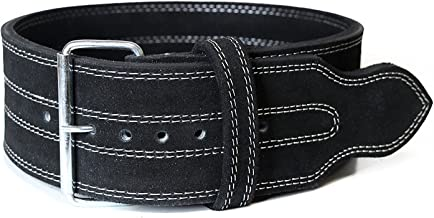 Serious Steel Fitness Leather Weight Lifting Belt | Powerlifting, Weightlifting & Exercise Belt | 4